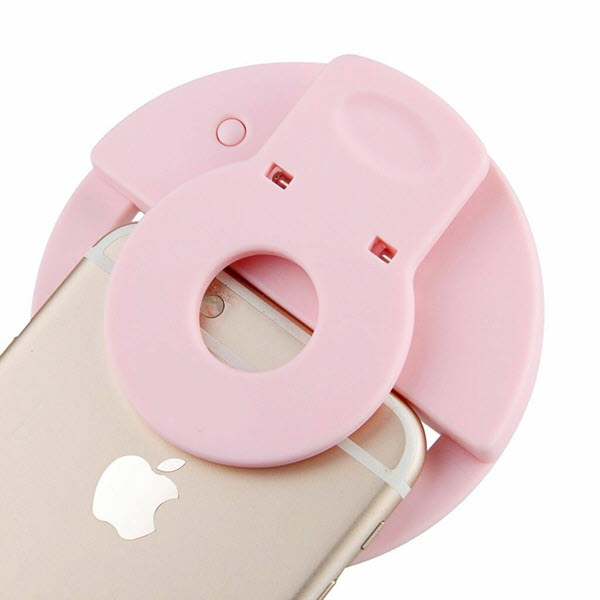 Rechargeable Led Selfie Ring Light Flash Built In Battery (4)