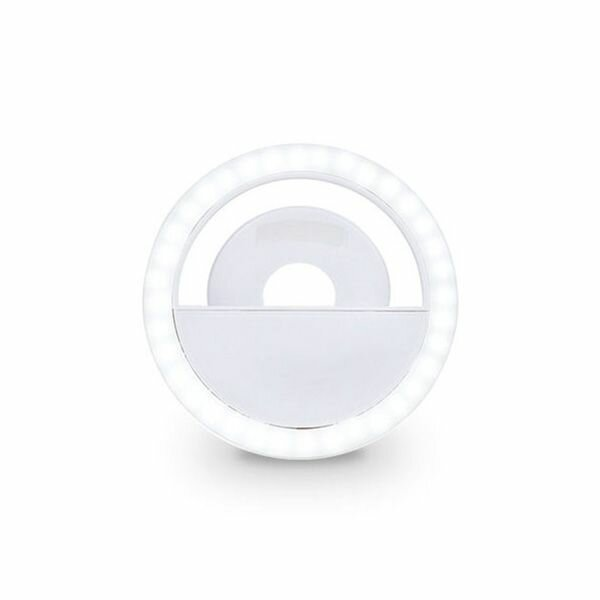 Rechargeable Led Selfie Ring Light Flash Built In Battery (6)