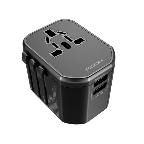 Rock T20 Universal Multi Function Dual Usb Socket Travel Charger (4)