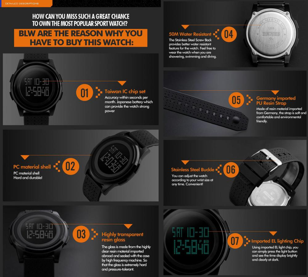 Skmei 1206 Led Digital Watch 6