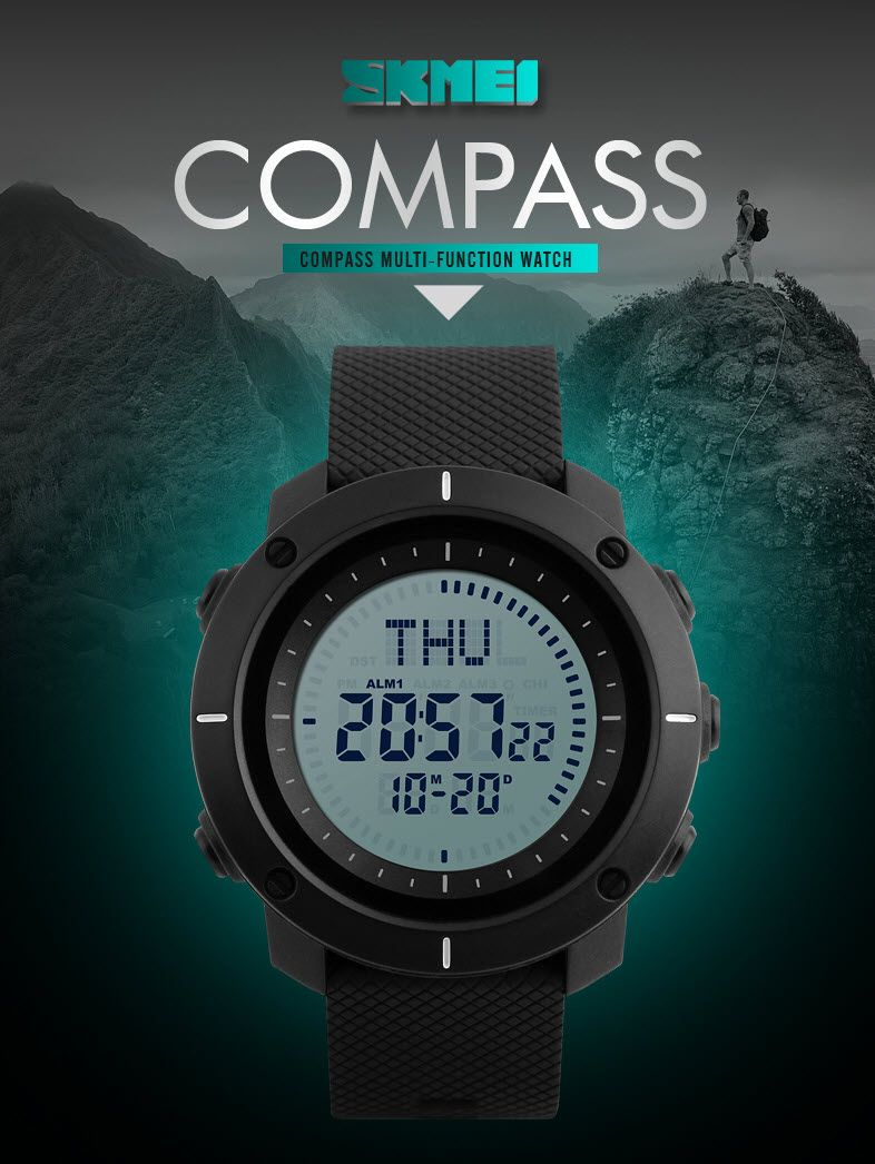 Skmei 1216 Compass Mens Women Digital Watch (1)