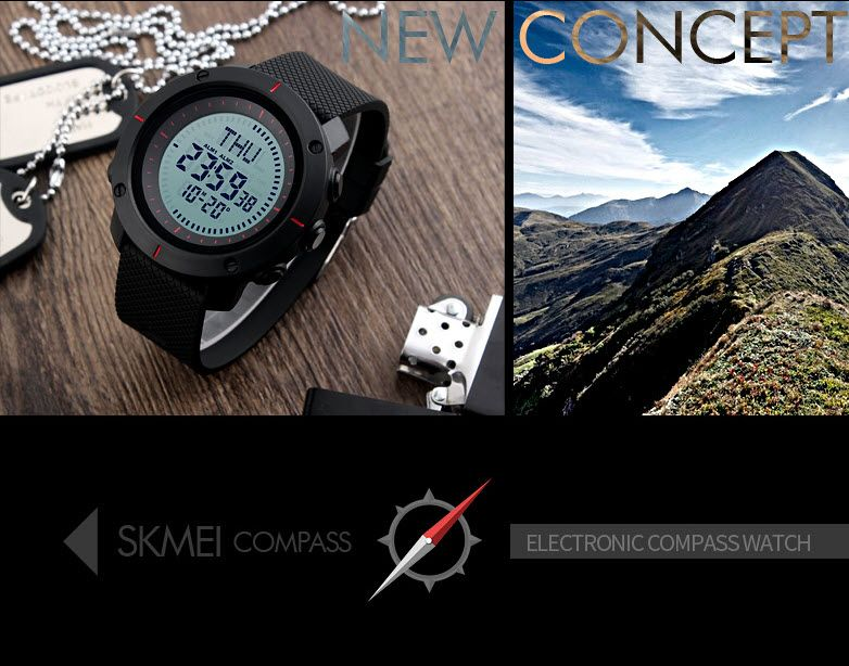 Skmei 1216 Compass Mens Women Digital Watch (5)