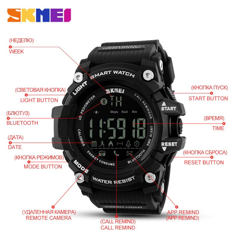 Skmei 1227 Bluetooth Smart Watch (6)