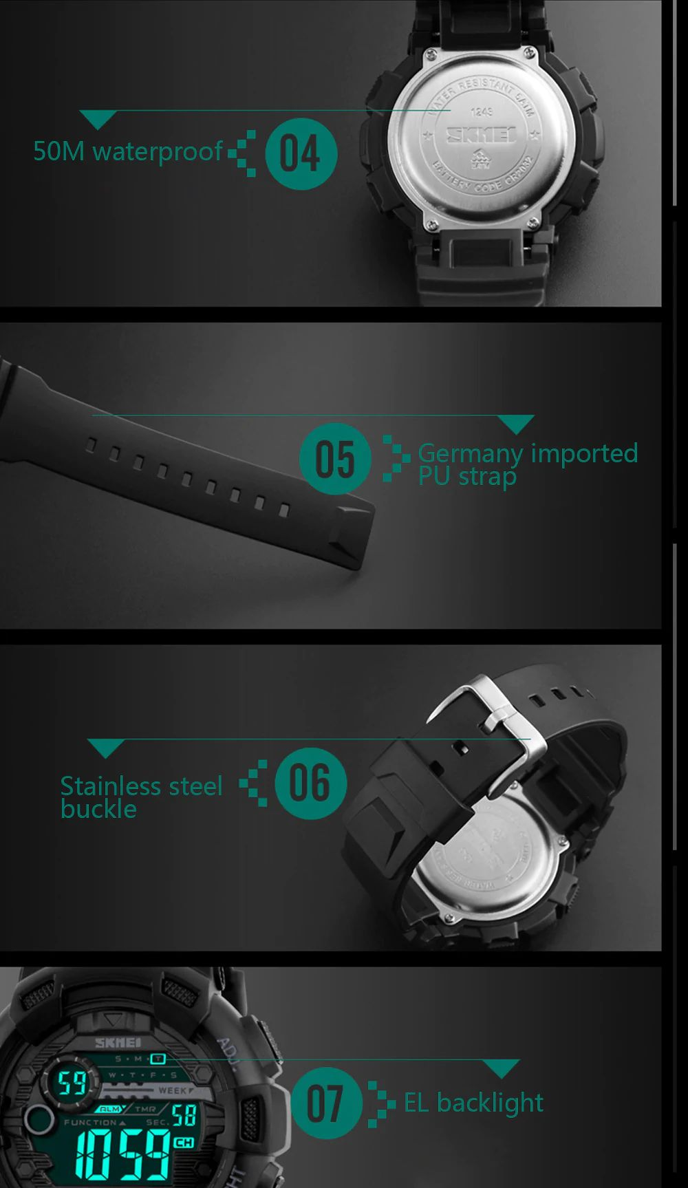 Skmei 1243 Men Sports Watch (11)