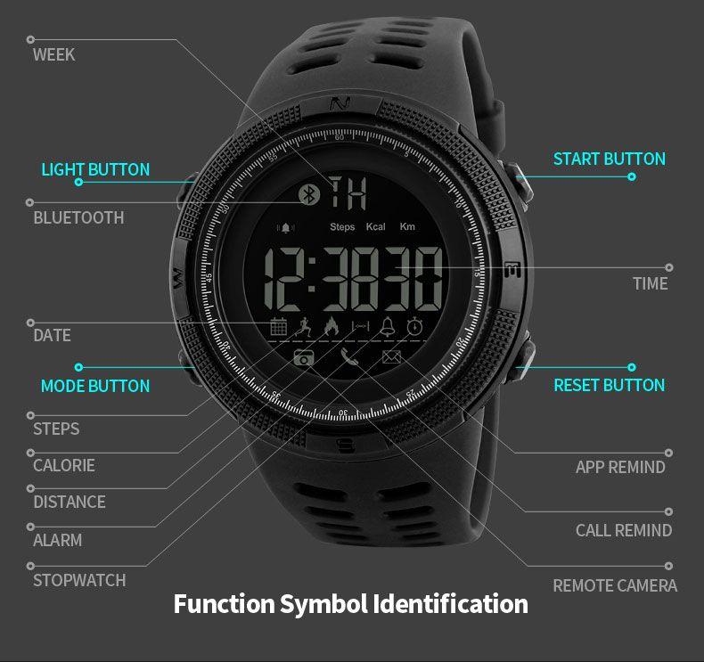 Skmei 1250 Sports Smart Digital Watch (16)