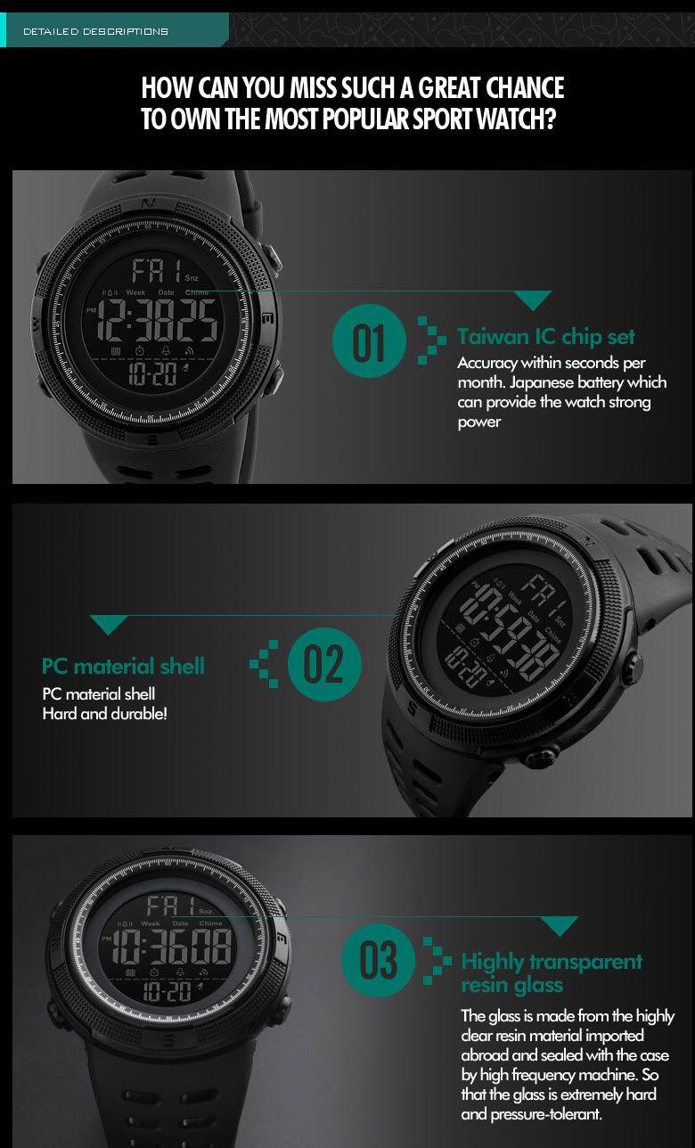 Skmei 1251 Waterproof Sports Digital Watch (8)