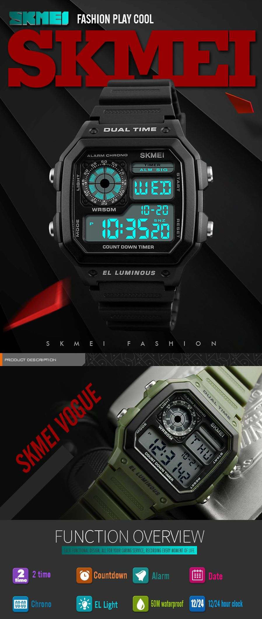 Skmei 1299 Digital Sports Watch (1)