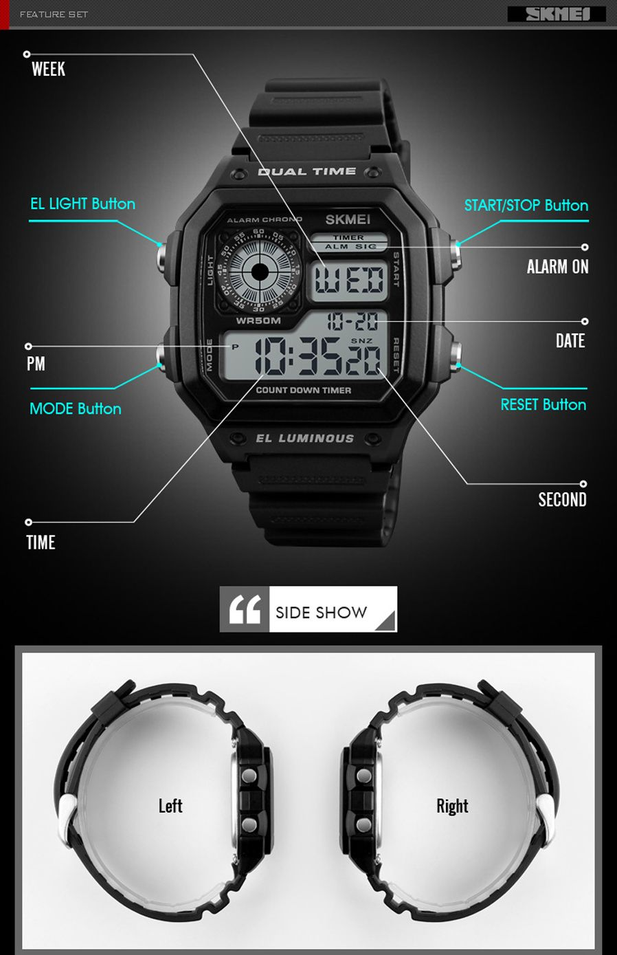 Skmei 1299 Digital Sports Watch (4)