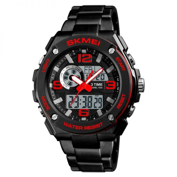 Skmei 1333 Men Quartz 3 Time Chrono Watch (1)