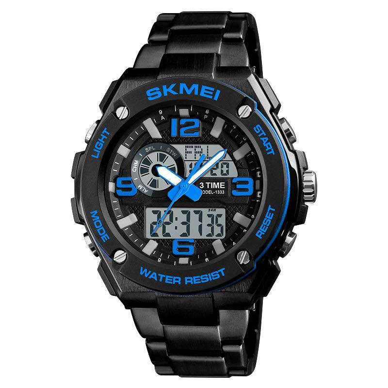Skmei 1333 Men Quartz 3 Time Chrono Watch (2)