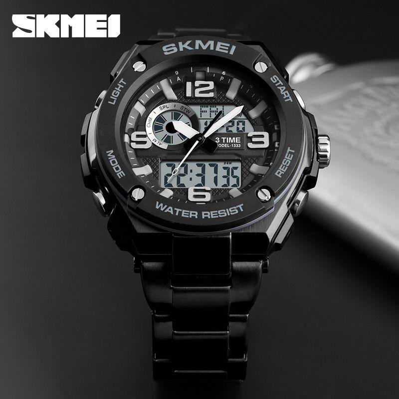 Skmei 1333 Men Quartz 3 Time Chrono Watch (3)
