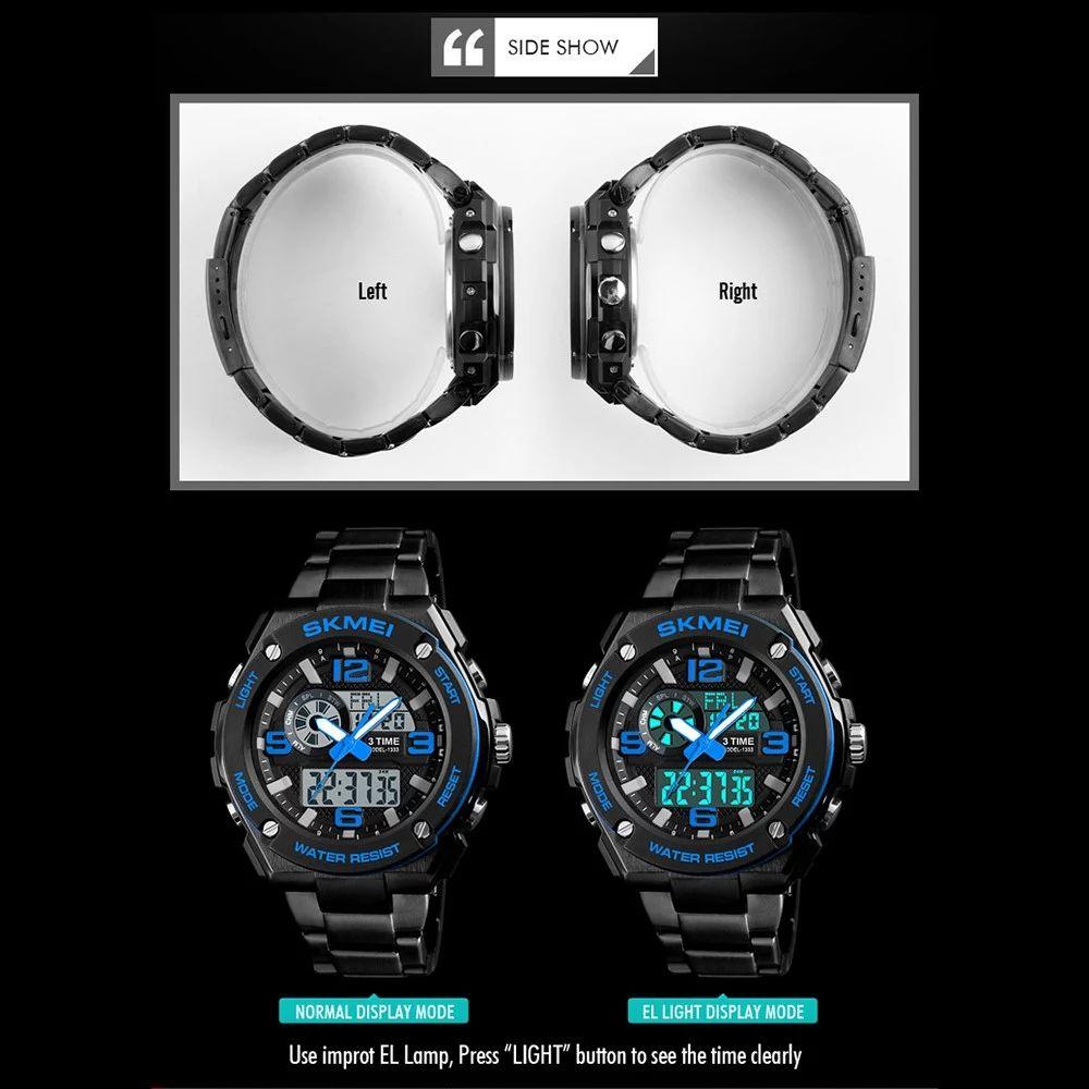 Skmei 1333 Men Quartz 3 Time Chrono Watch (4)