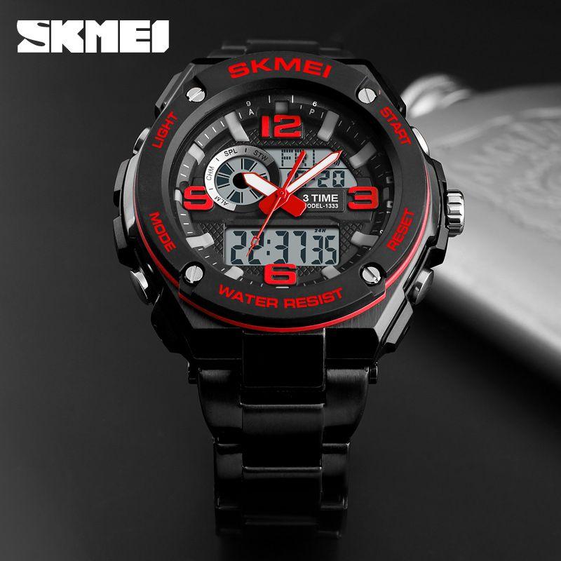Skmei 1333 Men Quartz 3 Time Chrono Watch (5)