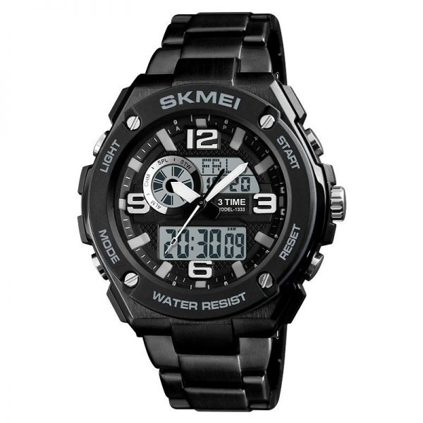 Skmei 1333 Men Quartz 3 Time Chrono Watch (6)