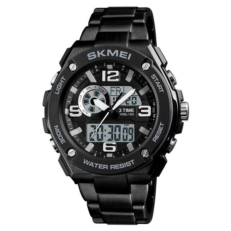 Skmei 1333 Men Quartz 3 Time Chrono Watch (6)