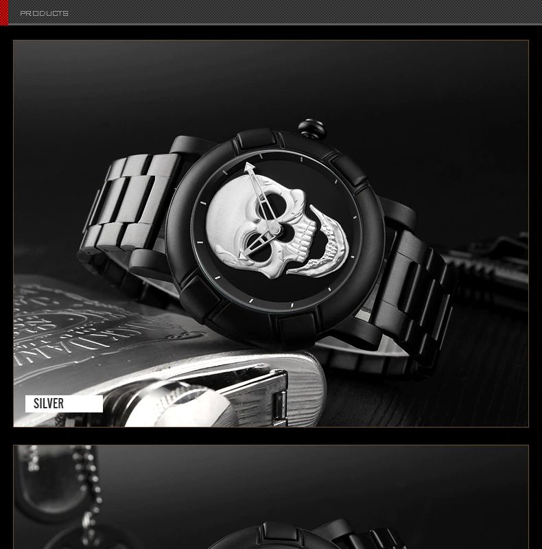 Skmei 9178 Skull Quartz Watch (1)