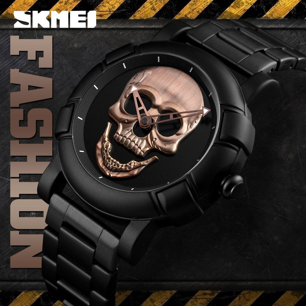 Skmei 9178 Skull Quartz Watch (1)