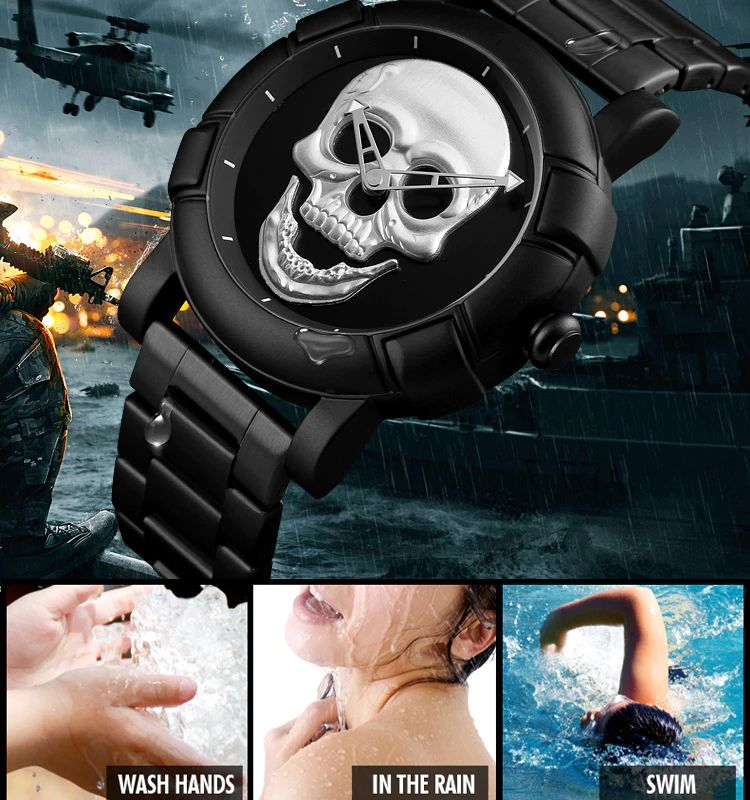 Skmei 9178 Skull Quartz Watch (12)