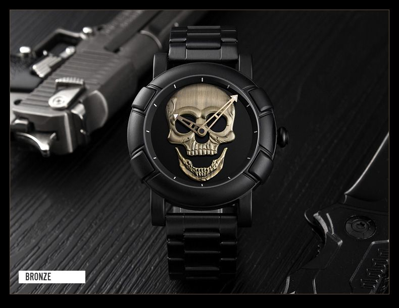 Skmei 9178 Skull Quartz Watch (2)