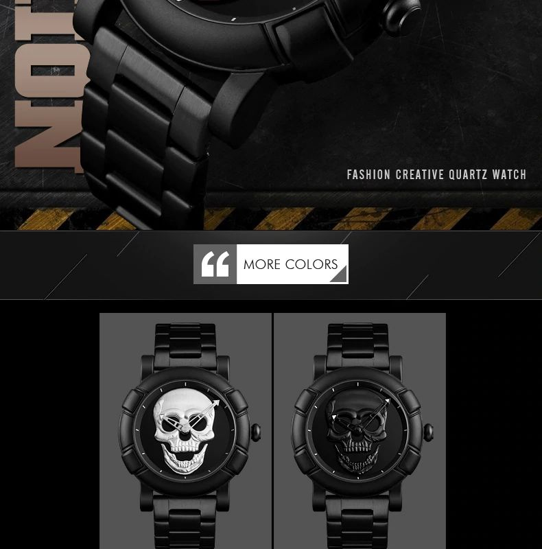 Skmei 9178 Skull Quartz Watch (3)