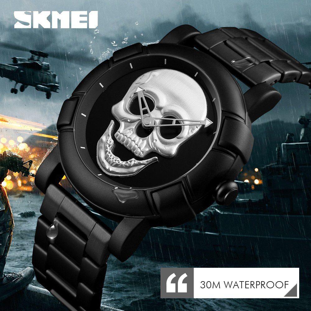 Skmei 9178 Skull Quartz Watch (3)