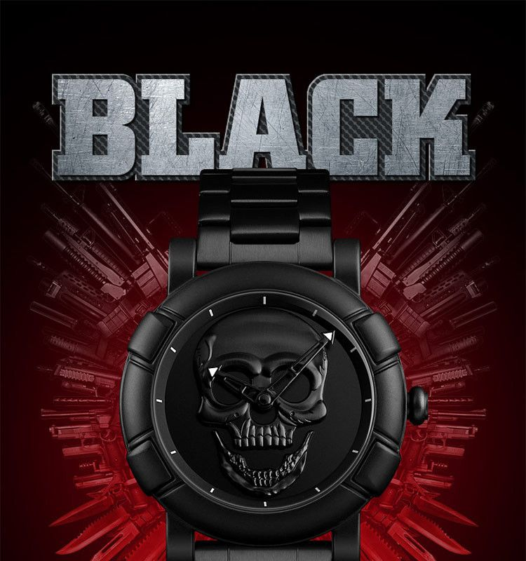 Skmei 9178 Skull Quartz Watch (5)