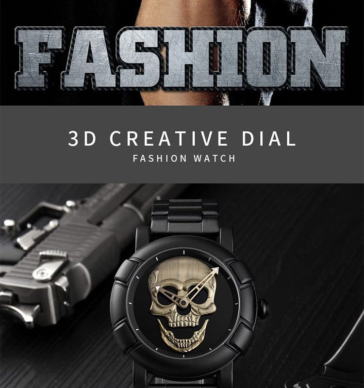 Skmei 9178 Skull Quartz Watch (7)