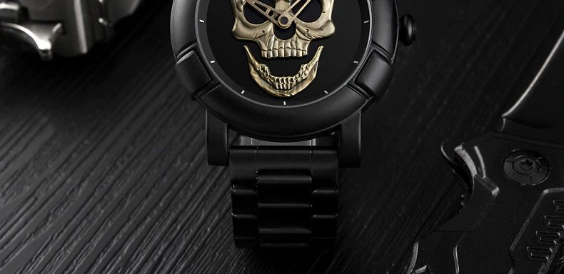 Skmei 9178 Skull Quartz Watch (9)