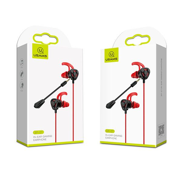 Usams Ep 27 3 5mm In Ear Headset Earphone With Microphone (4)