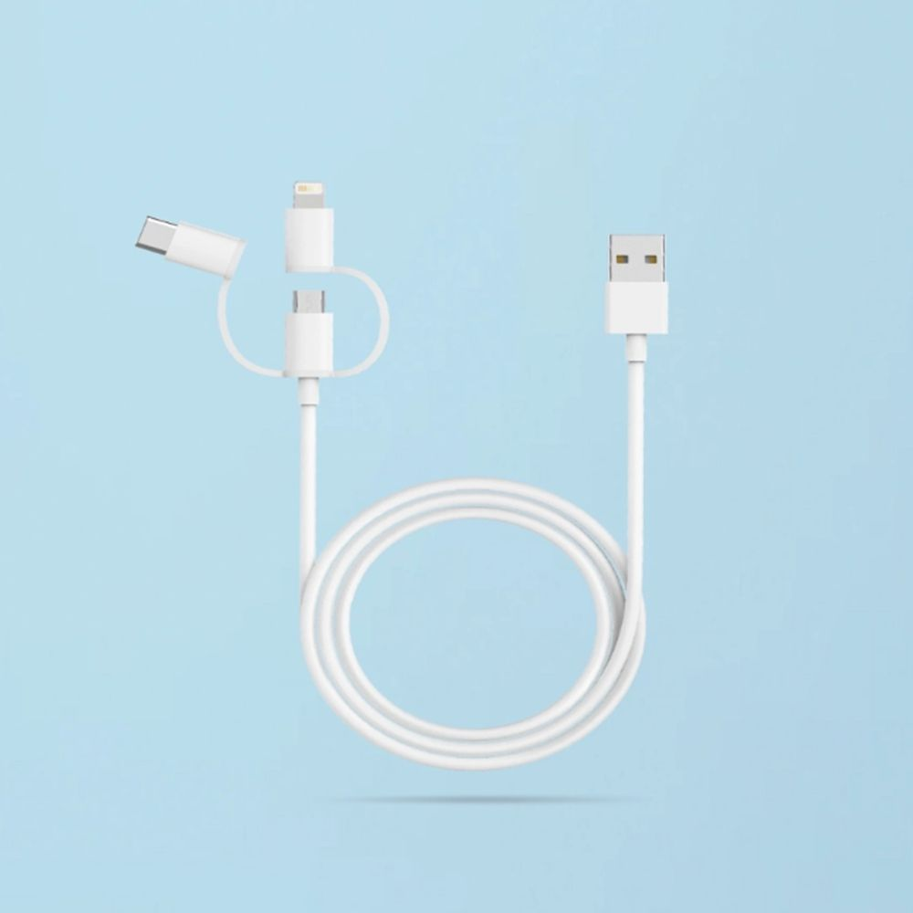 Xiaomi 3 In 1 Cable With Lightning Type C Micro Usb (2)