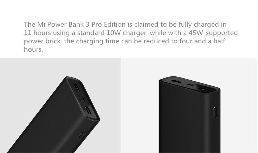Xiaomi Power Bank 3 Pro 20000mah Usb C Qc 3 0 Fast Charge Power Bank (1)
