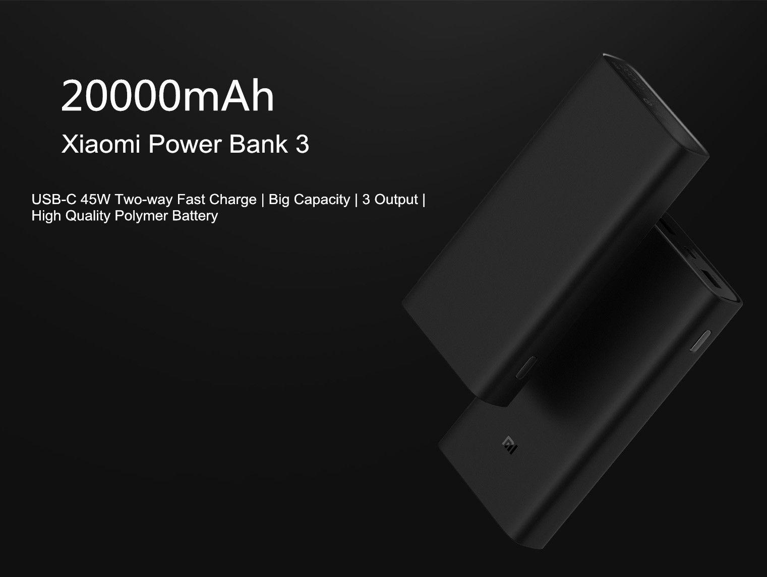 Xiaomi Power Bank 3 Pro 20000mah Usb C Qc 3 0 Fast Charge Power Bank (6)