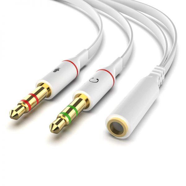 3 5mm Headphone Microphone Stereo Audio Splitter (5)