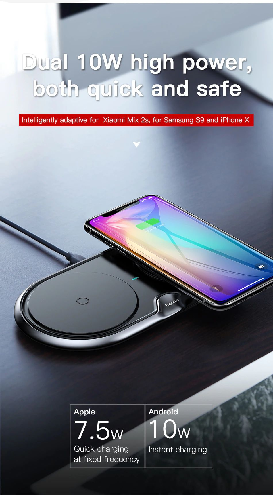 Baseus 10w Dual Seat Qi Wireless Charging Pad (12)