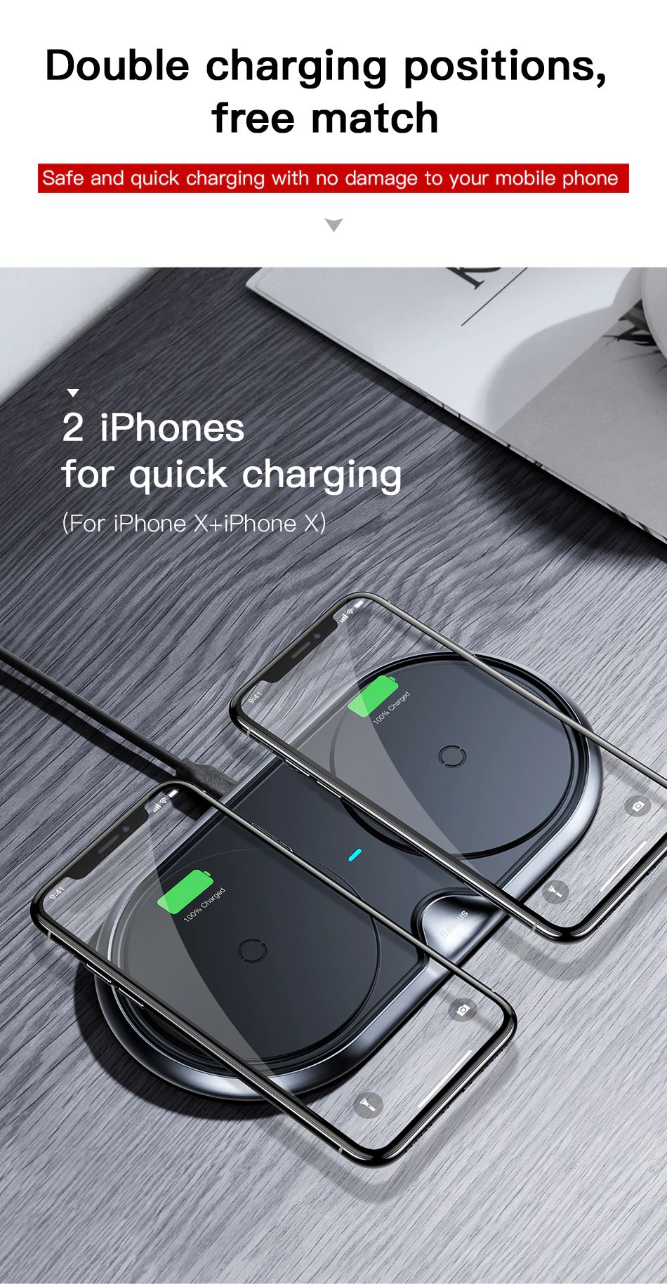 Baseus 10w Dual Seat Qi Wireless Charging Pad (3)