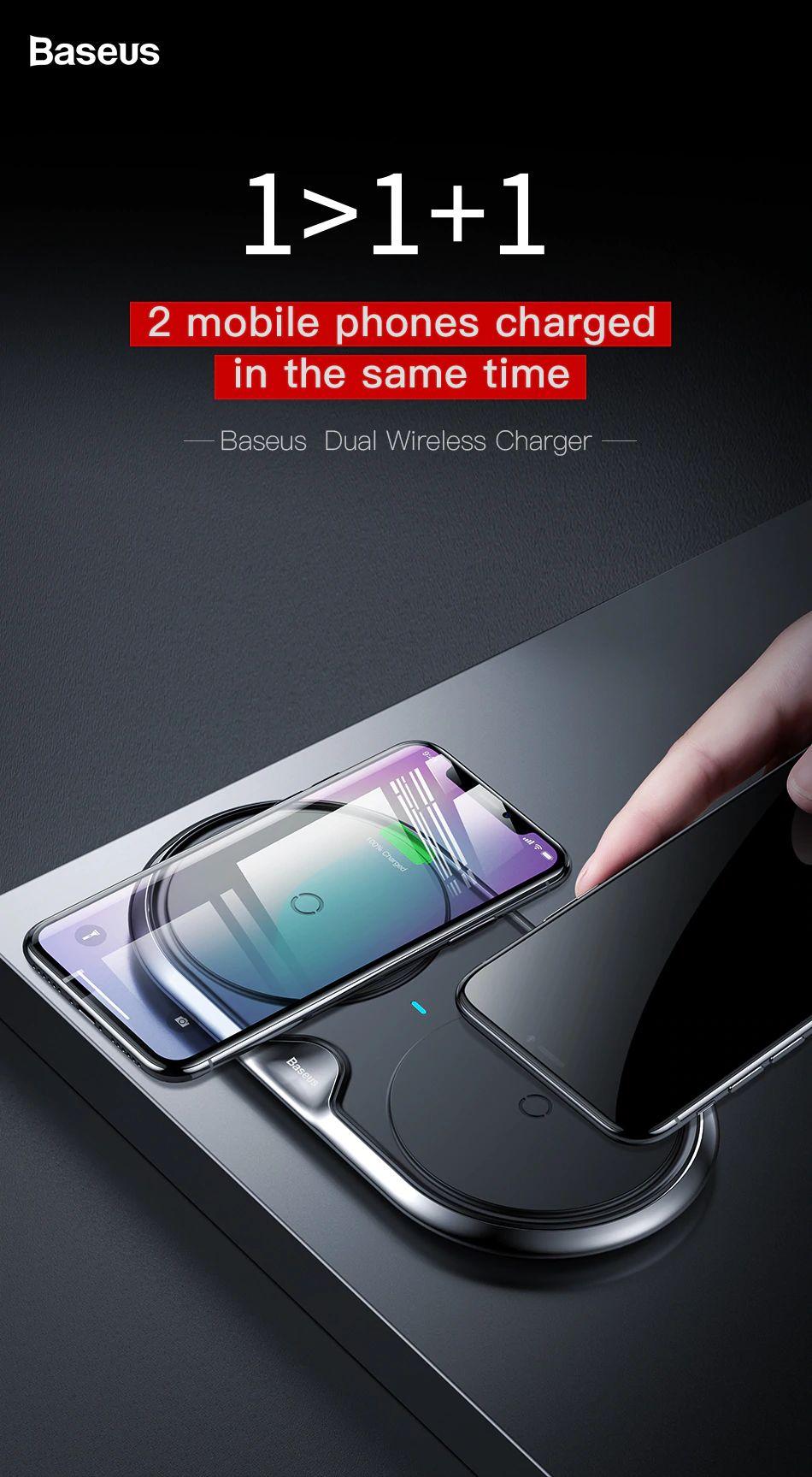 Baseus 10w Dual Seat Qi Wireless Charging Pad (4)
