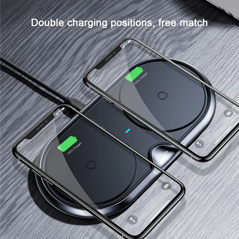Baseus 10w Dual Seat Qi Wireless Charging Pad (6)