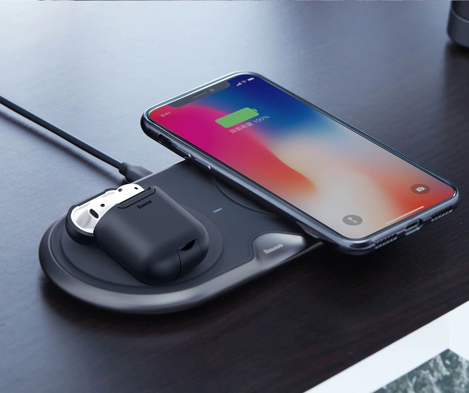Baseus 10w Dual Seat Qi Wireless Charging Pad