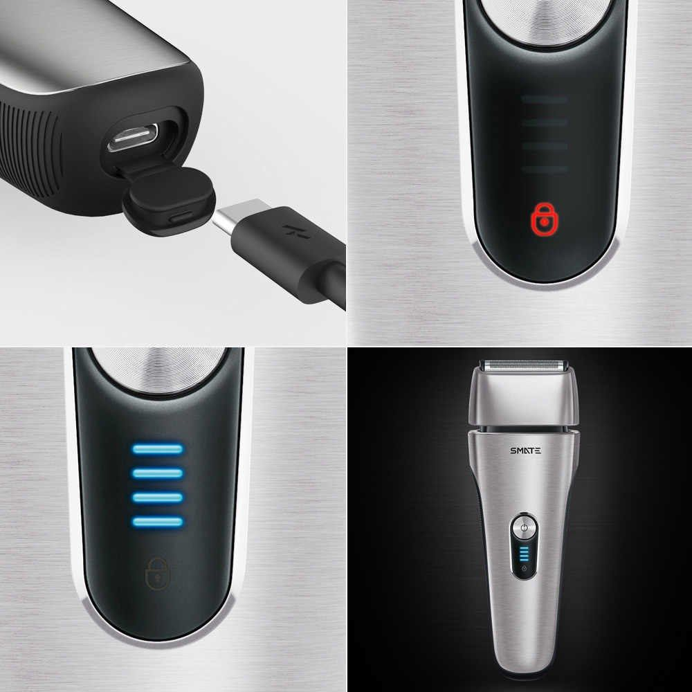 Xiaomi Mijia Smate 4 Blade Electric Razor For Dry And Wet Shave (4)