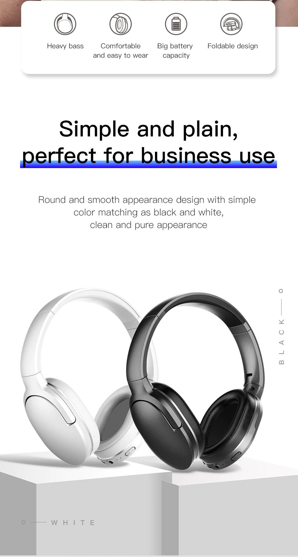 Baseus D02 Bluetooth 5 0 Wireless Headphone (2)