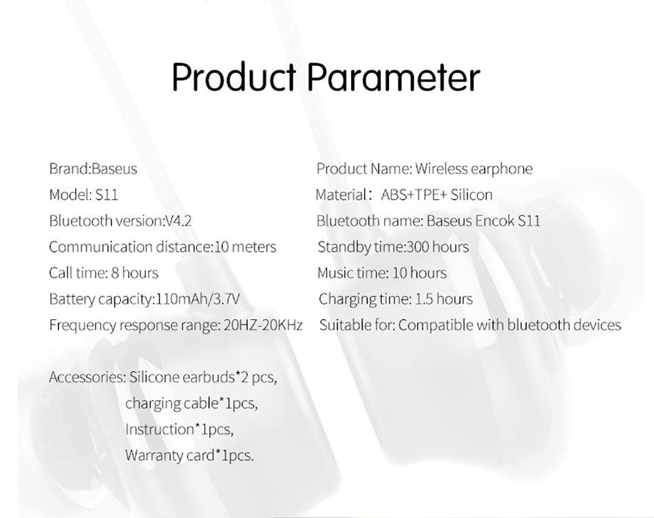 Baseus Encok S11 Neckband In Ear Bluetooth Sports Earphone With Mic (17)