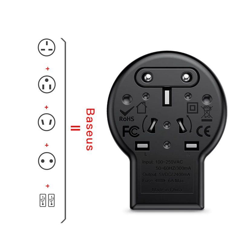 Baseus International Travel Adapter Whirl Universal Travel Wall Charger Plug (1)