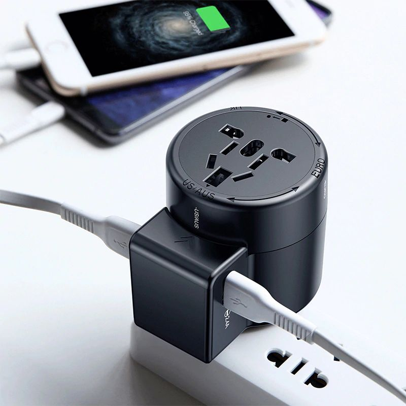 Baseus International Travel Adapter Whirl Universal Travel Wall Charger Plug (7)