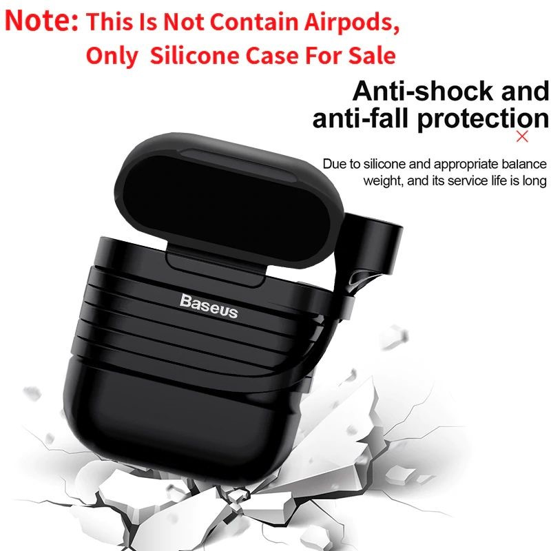 Baseus Silicone Case For Apple Airpods (2)
