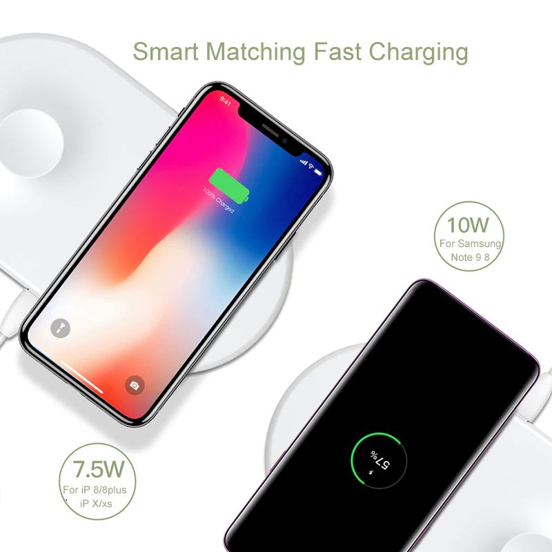 Baseus Smart 2 In 1 Wireless Qi Charger For Iphone Apple Watch (11)
