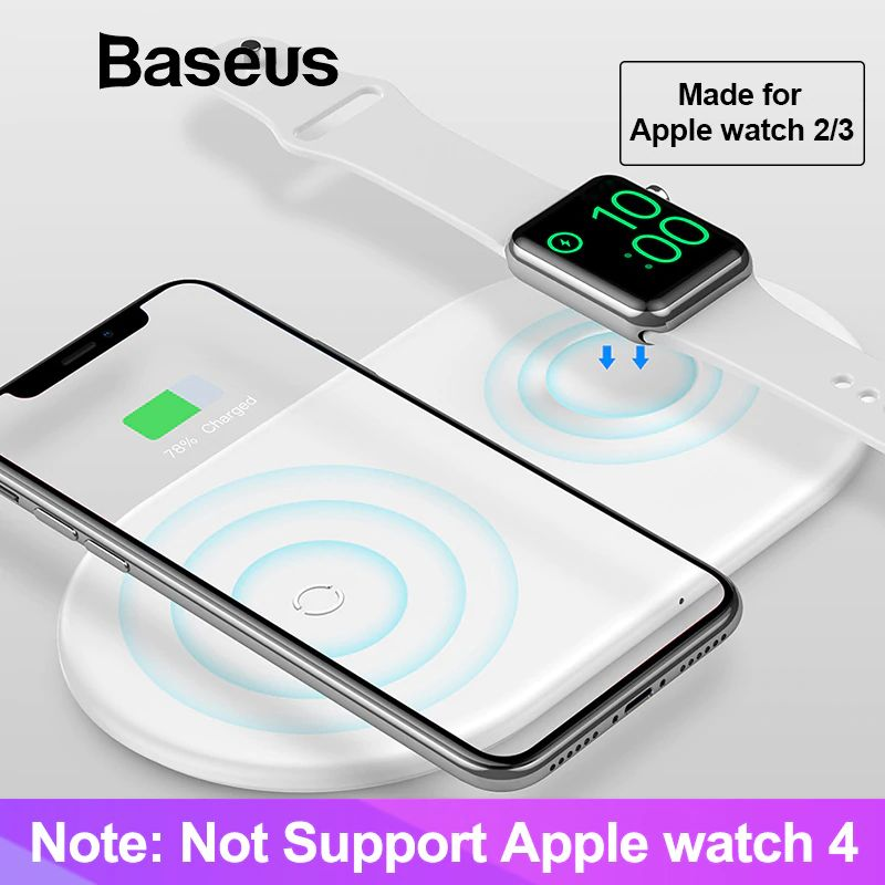 Baseus Smart 2 In 1 Wireless Qi Charger For Iphone Apple Watch (13)