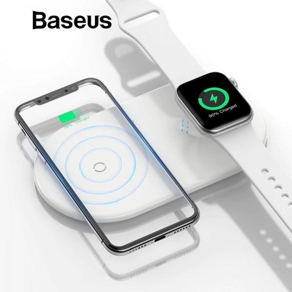 Baseus Smart 2 In 1 Wireless Qi Charger For Iphone Apple Watch (18)