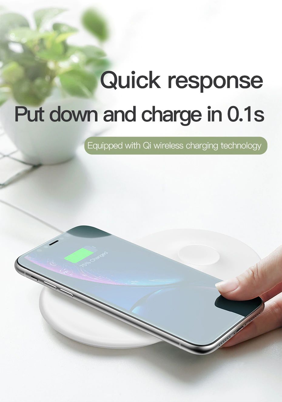 Baseus Smart 2 In 1 Wireless Qi Charger For Iphone Apple Watch (4)