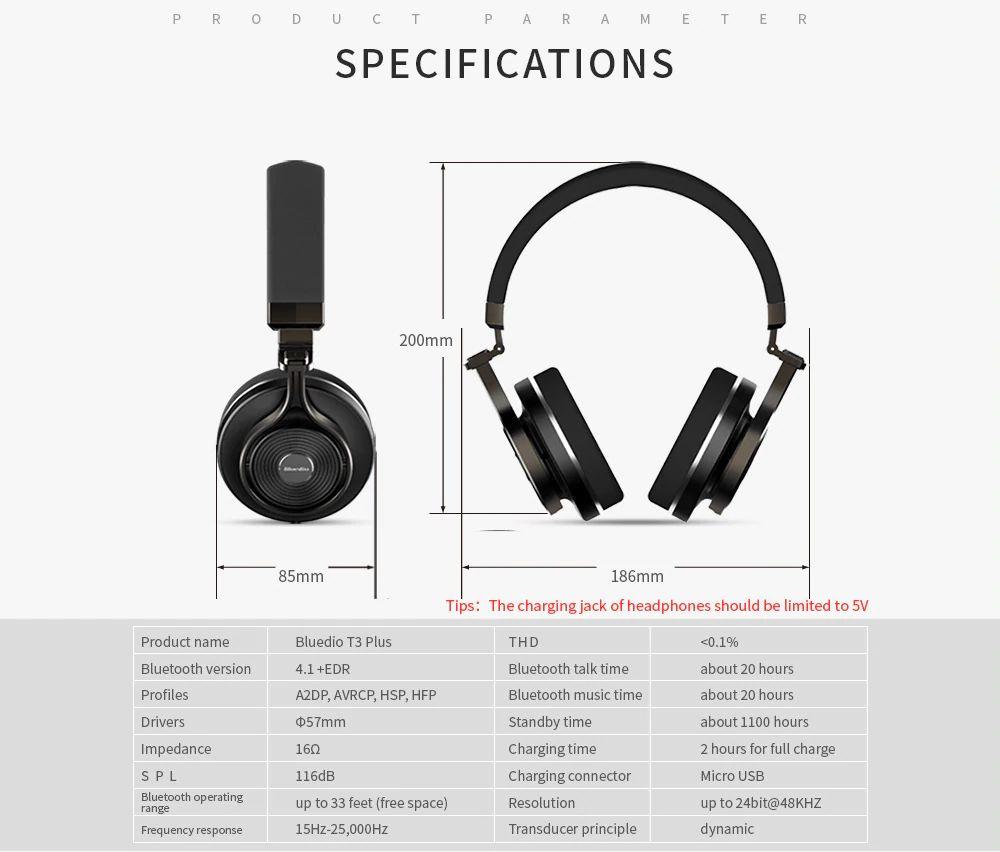 Bluedio T3 Plus Wireless Bluetooth Headphones (9)