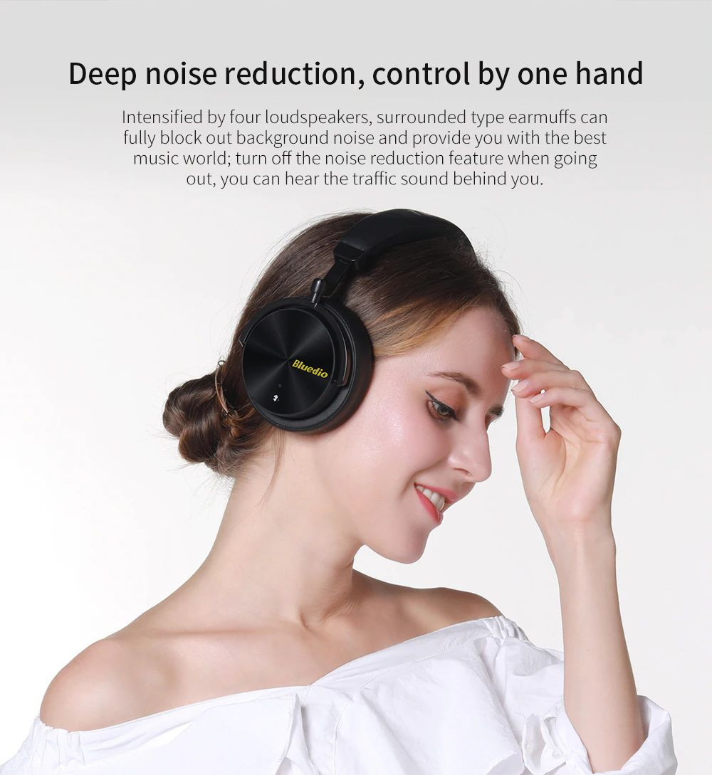 Bluedio T5 Active Noise Cancelling Bluetooth Headphone (5)
